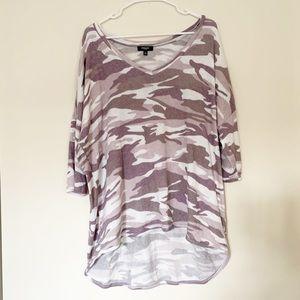 Premise Purple Camouflage Top